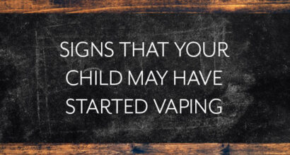 signs that your child may have started vaping