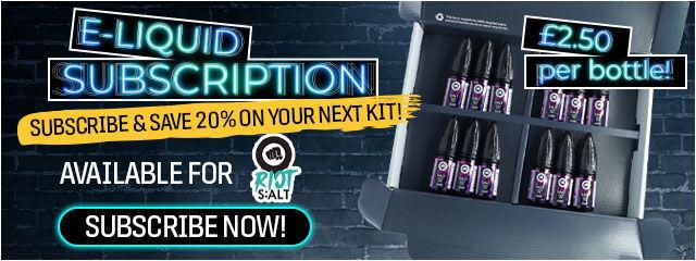 Riot S:ALT E-liquid Subscription